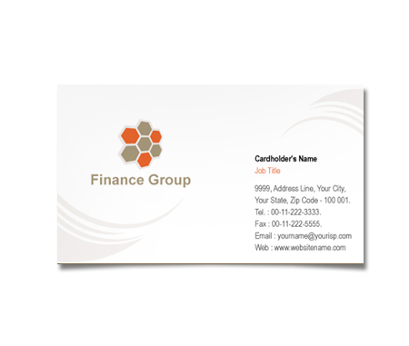 Complete Business Card  View with Layout For Financing Group