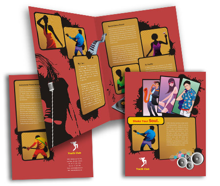 Complete Brochure  View with Layout For Music Clubs