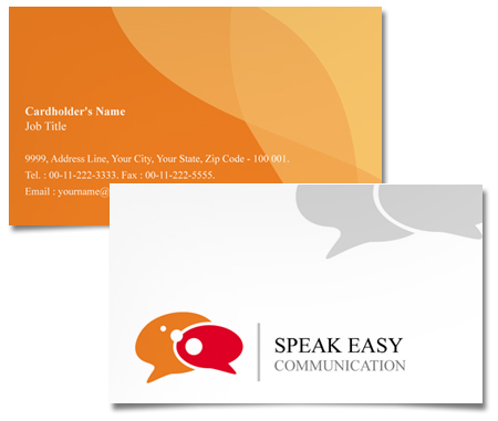 Complete Business Card  View with Layout For Effective Communication
