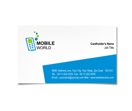 Complete Business Card  View with Layout For Mobile Communications