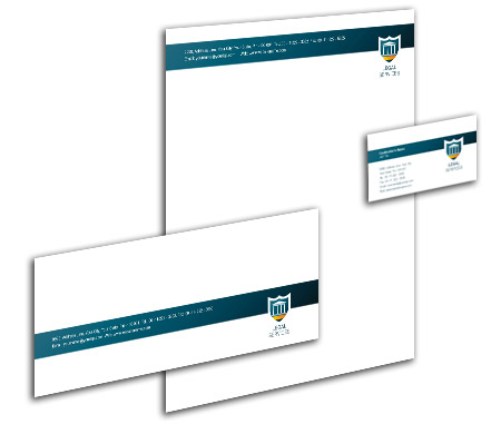 Complete Corporate Identity  View with Layout For Legal Consultant