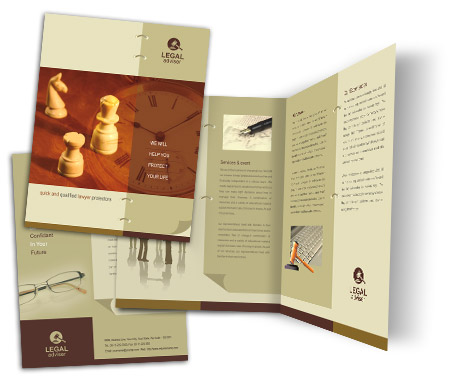 Complete Brochure  View with Layout For Legal Consulting