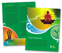 Brochure Templates Yoga Centre