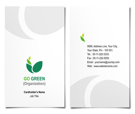 Complete Business Card  View with Layout For Environmental Groups