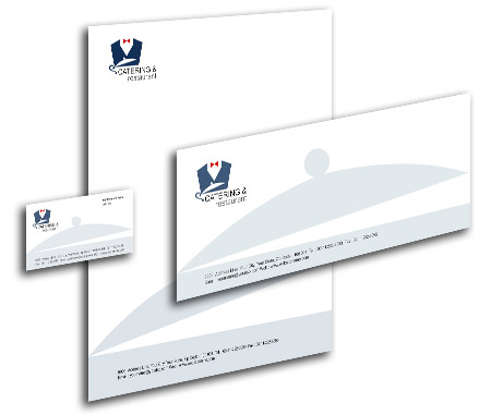 Complete Corporate Identity  View with Layout For Catering And Restaurant