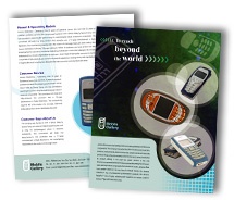 Brochure Templates mobile handsets
