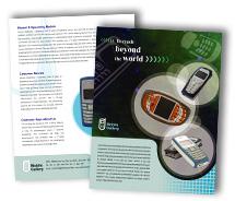 Brochure Templates mobile handsets