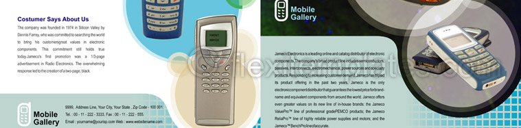 Actual Brochure  Design For Mobile Handsets