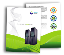 BrochureTemplates Computers Domain Hosting Services One Fold