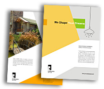 Brochure Templates Wooden Construction