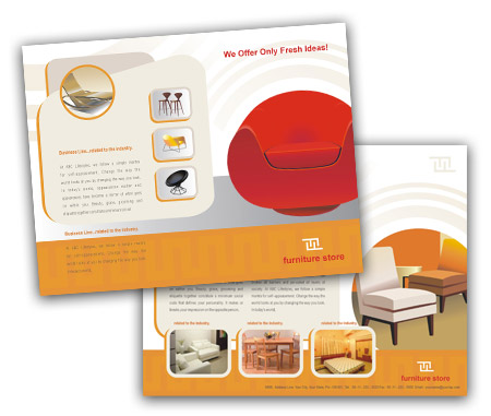 Complete Brochure  View with Layout For furniture stores