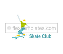 Sports Skate Club logo-templates