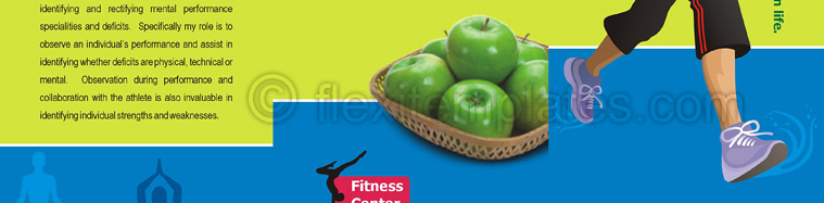 Actual Brochure  Design For Fitness Center