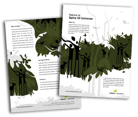 Complete Brochure  View with Layout For Rainforests