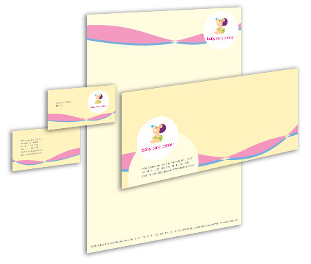 Complete Corporate Identity  View with Layout For Child Health