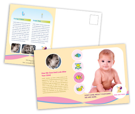 Complete PostCard s View with Layout For Child Health