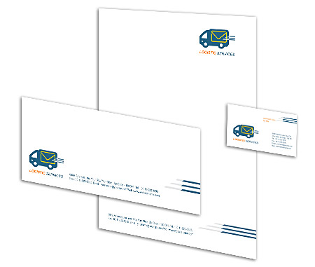 Complete Corporate Identity  View with Layout For International Logistic Services