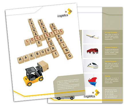 Complete Brochure  View with Layout For Logistics Service