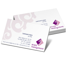 Business Card Templates Media Event Organiser