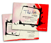 Brochure Templates the arts house
