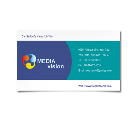 Complete Business Card  View with Layout For Media Organization