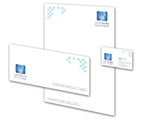 Complete Corporate Identity  View with Layout For Software Development Company