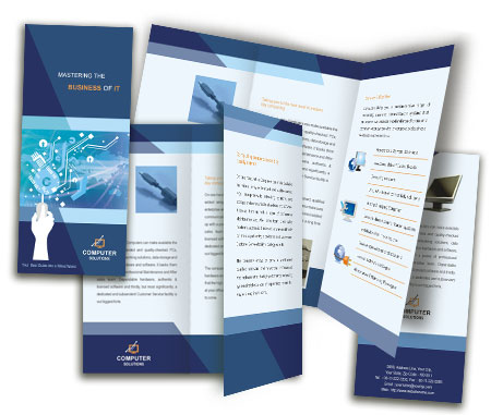 Complete Brochure  View with Layout For Computer Network