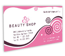 Beauty Beauty Store BusinessCardTemplates