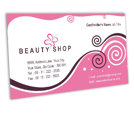 Complete Business Card View with Layout For Beauty Store