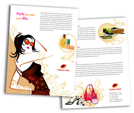 Complete Brochure  View with Layout For Fashion Point
