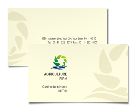 Complete Business Card  View with Layout For Online Agricultural Store