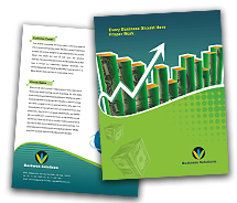 Business Business Finance Solution brochure-templates