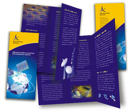 Complete Brochure  View with Layout For Wireless Communication System