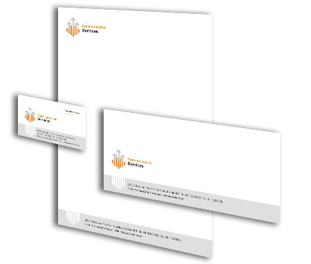 Complete Corporate Identity  View with Layout For Digital Communication