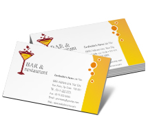 Business Card Templates restaurant in bar