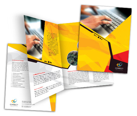 Complete Brochure  View with Layout For Repair Computer