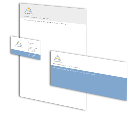 Complete Corporate Identity  View with Layout For Architectural Firm