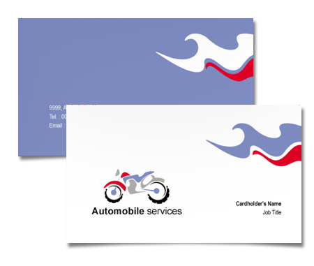 Complete Business Card  View with Layout For Bikes Repair