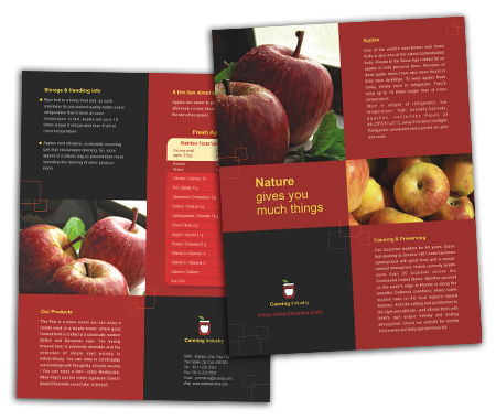 Complete Brochure  View with Layout For Canning  Food