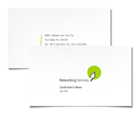 Complete Business Card  View with Layout For Networking Devices Server