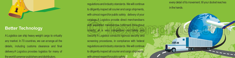 Actual Brochure  Design For Worldwide Logistics