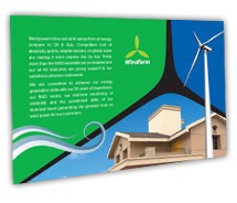 Post Card Templates wind farm