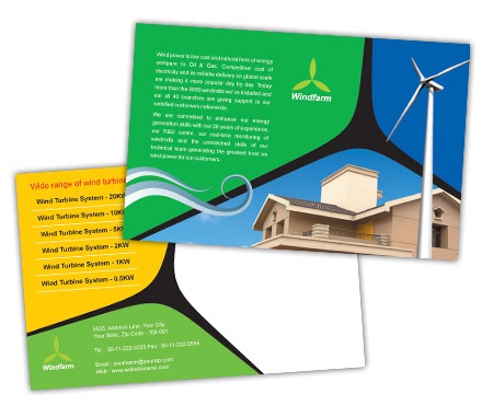 Complete PostCard s View with Layout For Wind Farm