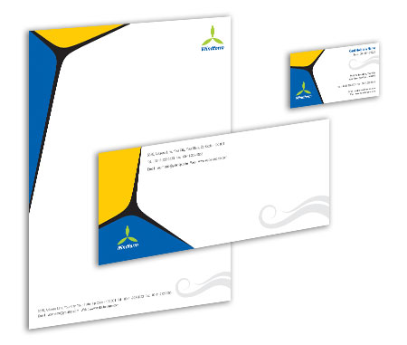 Complete Corporate Identity  View with Layout For Wind Farm