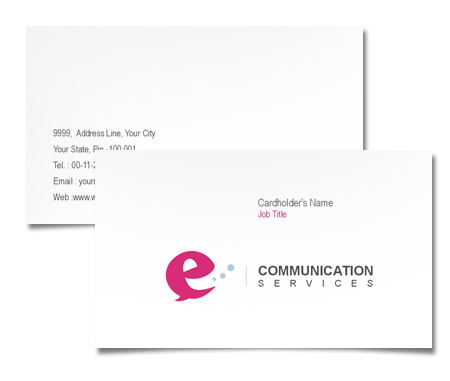 Complete Business Card  View with Layout For