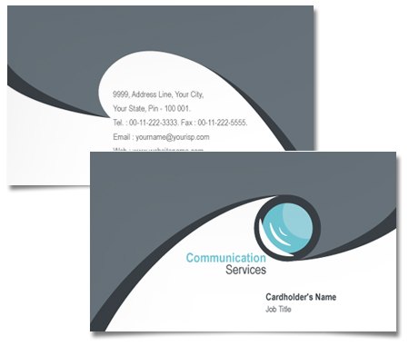 Complete Business Card  View with Layout For Communication  And Technology
