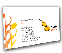 Business Card Templates Educational Music Classes