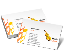 Business Card Templates music classes