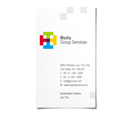Complete Business Card  View with Layout For Media Centre
