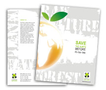 Brochure Templates Nature Save Earth